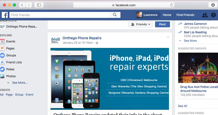 墨尔本 东南区 市中心 唐人街 修手机 修电脑 facebook 主页